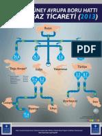 Infografik - Dogu ve Guney Dogu Avrupa Boru Hatti Dogal Gaz Ticareti