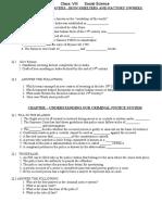Social Science Assignment CBSE Class 8 Industries