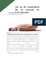 Cum Sa-ti Controlezi Stresul in 10min