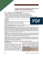 Sensitivity of Bcg Inoculation and Tuberculin Skin Test