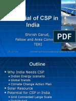 Mr Shirish Garud Potential of CSP in India