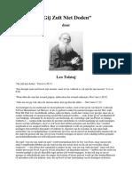 Gij Zult Niet Doden - Leo Tolstoj