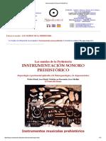 Instrumentaciòn Sonoro Prehistòrico