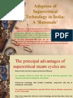 Adoption of Supercritical Technology