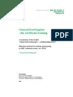 General Food Hygiene - The Certificate Training