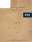 Terrorism, State Terrorism and Democratic Rights - Randhir Singh