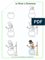 Learn to Draw a Snowman