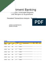 119193741 Precedent Transactions