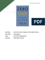 Zero to one 1