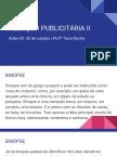 Redação Publicitária II- Aulas 2 e 4 (2º Bim)