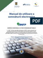 Manual de Utilizare a Semnaturii Electronice