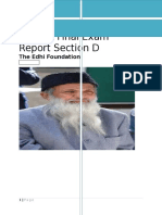 Speech Report on Edhi (NGO)
