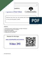 Exact Trig Values PDF