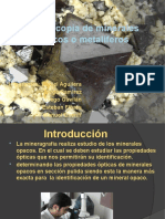 Microscopia de Minerales Opacos o Metalíferos