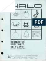 Halo Contractor Price Book 1971