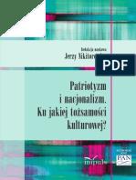 Nikitorowicz Patriotyzm nacjonalizm