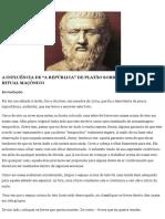 Platão e o Ritual Maçônico