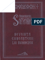 Arhimandritul Sofronie - Nevoința Cunoașterii Lui Dumnezeu