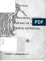 Rudolf Steiner-la Educacion a La Luz de La Antroposofia
