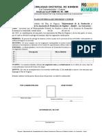 Formato Acta de Entrega de Materiales e Insumos