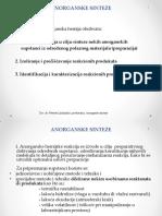 Opšti Postupci Dobijanja, Izlučivanja i Separacije Anorganskih Supstanci..