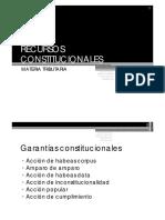 Recursos Constitucionales en Materia Tributaria