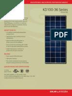 Kyocera 140W Modulo Solar
