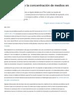 Acevedo - El Debate Sobre La Concentración de Medios en Perú
