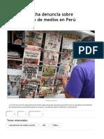 EFE - CIDH Escucha Denuncia Sobre Concentración de Medios en Perú