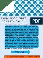 Principios y Fines de La Educación