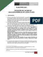 Justificación de Metas Economicas Plan Bicentenario_jun2010