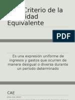 Criterio Anualidad Equivalente[1]