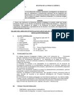Silabo de Ivestigacion Aplicada III de Primaria