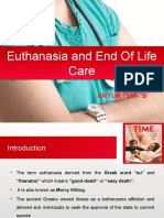 Euthanasia and End of Life Care