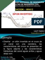 Ejemplo de Sifon Invertido Irrigacion