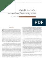 Kalecki Invesión inestabilidad financiera y crisis.pdf
