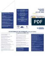 Abril-2010. Programación del Área de Cultura (Ayuntamiento de Ayamonte)