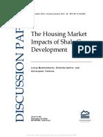 Housing market impacts of shale gas development