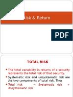 5 Risk Return