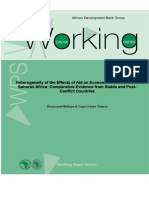 Working Paper 179 - Heterogeneity of the Effects of Aid on Economic Growth in Sub-Saharan Africa