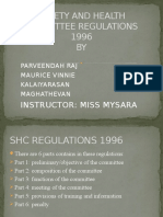 Safety and Health Committee Regulations 1996 Law Presentationzz
