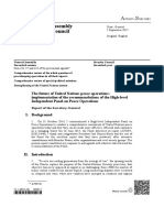 UN Security Council- Report of the Secretary-General - The Future of United Nations Peace Operations- Implementation of the Recommendations of the High-level Independent Panel on Peace Operations - 02 September 2015