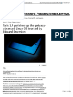 Tails 1.4 polishes up the privacy-obsessed Linux OS trusted by Edward Snowden   PCWorld