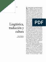 Linguística, traducción y cultura - Carbonell