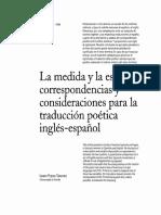 Isidro Pliego Sánchez - La Medida y La Estrofa - Consideraciones Para La Traducción En-ES