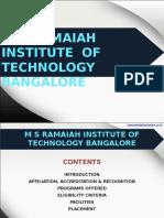 M S Ramaiah Institute of Technology Bangalore|MSRIT|MBA