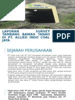 Laporan Survey Tambang Bawah Tanah Di Pt