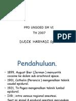 Regional Anestesi (Farmakologi )