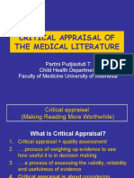 Critical Appraisal of the Measdasddical Literature-PPT