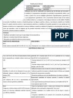 Ejemplo Planificación Matematica 1º Bàsico